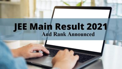 JEE Main 2021Result and rank announced