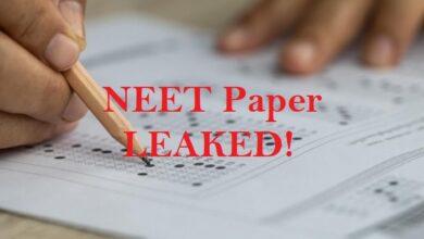 NEET 2021 Exam paper leak