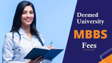 Deemed University MBBS Fee 2021